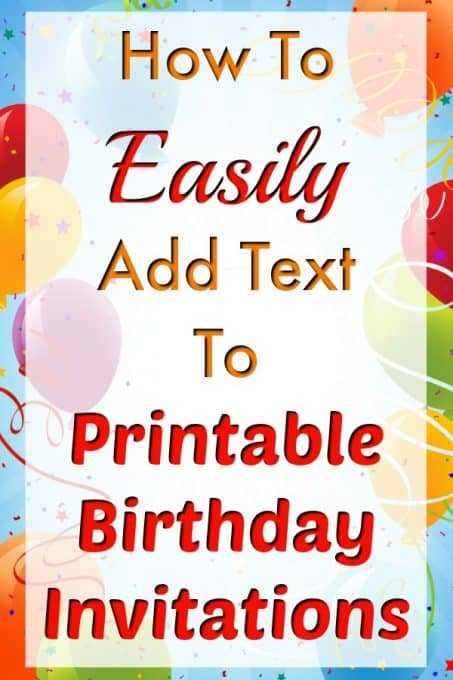 Birthday Invitation Templates Can Be Easy To Customize