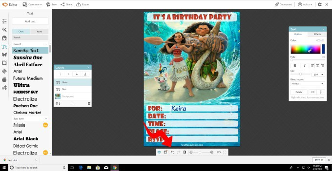 If you make a mistake on your birthday invitation, it's easy to fix