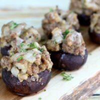 Easy Sausage Stuffed Mushrooms