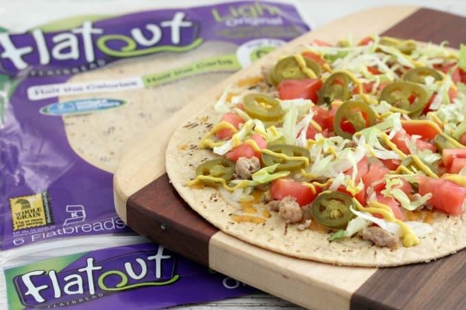 Flatout flatbread is the perfect choice for making a flatbread pizza recipe