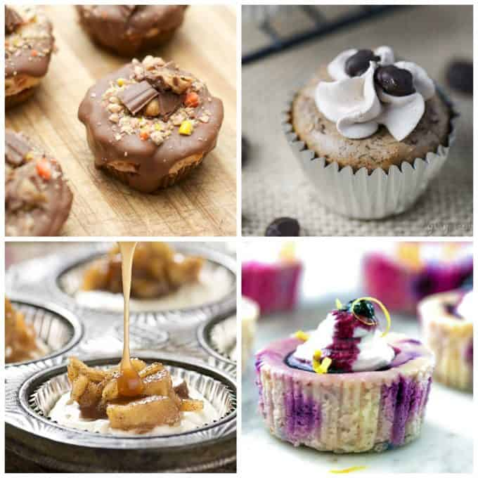 Bite size desserts made with cheesecake are always popular