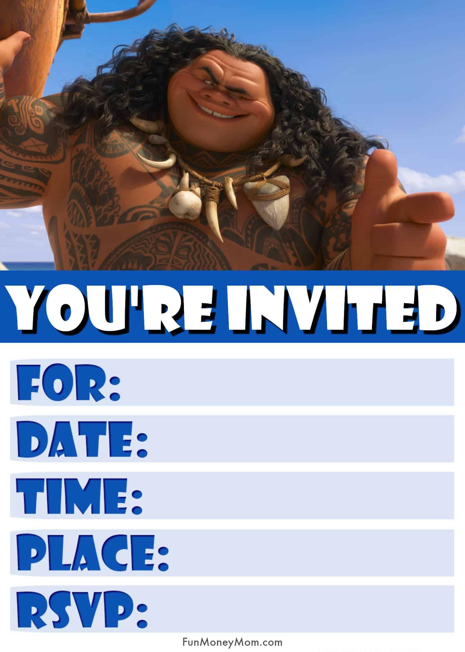 Moana Invitation Maui Jpg
