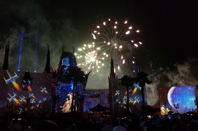 The fireworks at Hollywood Studios