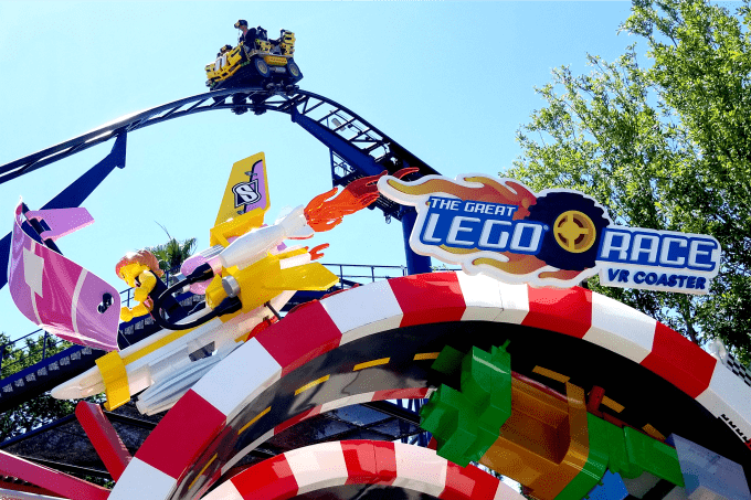 The Great LEGO Race Virtual Reality Coaster in LEGOLAND Florida Resort