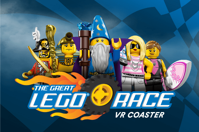 The Great LEGO Race Virtual Reality Roller Coaster At LEGOLAND Florida Resort