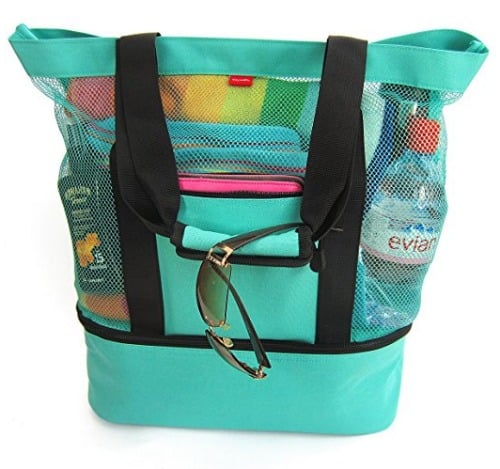 This beach tote holds everything from beach toys to towels