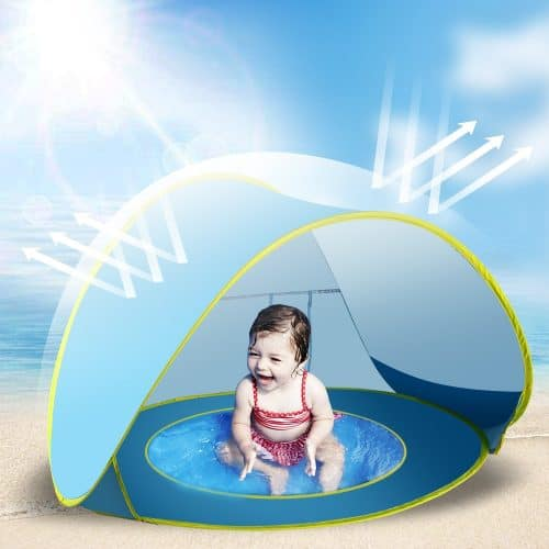 If you have a toddler, this sunshade is essential beach gear