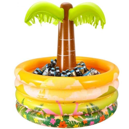 This palm tree cooler is a fun beach accessory