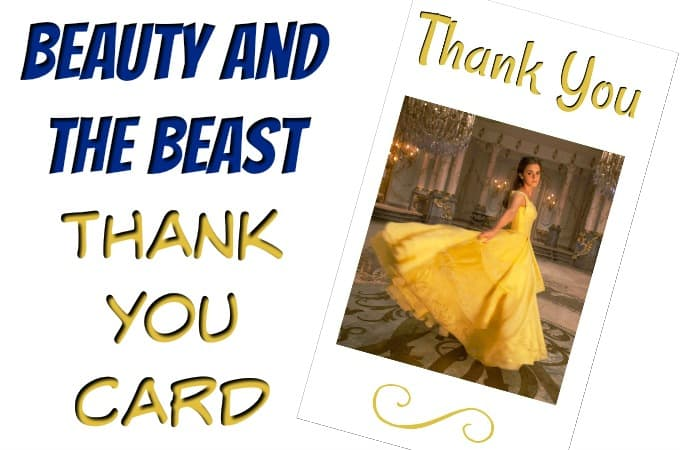Beauty And The Beast Thank You Card feature