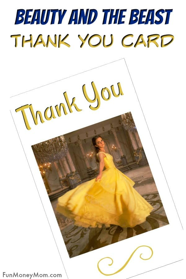 Beauty And The Beast Thank You Cards - Did you have a Beauty And The Beast birthday party? You'll need these free printable Beauty And The Beast thank you cards. #beautyandthebeast #thankyoucards