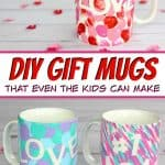 DIY Mugs - Looking for a DIY gift that's perfect for Mother's Day, Father's Day or any other special occasion? These DIY gift mugs are not only both fun and functional, they're so easy that they make a great kid's craft too! #giftmug #diymug #giftideas