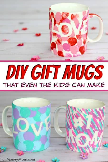 DIY Mug - These pretty gift mugs are perfect for any occasion and they're so easy that they even make a great kid's craft! #diymug #giftmug #giftideas