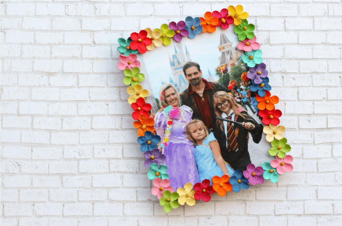Floral Picture Frame Craft For Kids