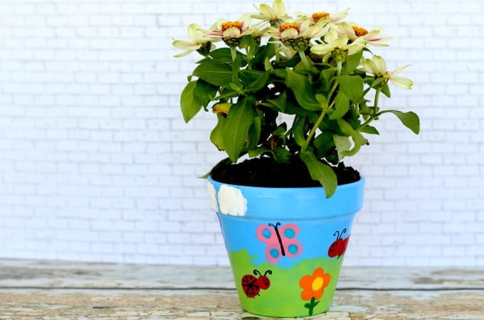 Flower pot painting feature