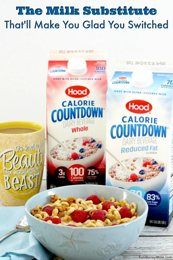 Milk substitute - Need a healthy alternative to milk? Find out why you're not going to miss milk at all once you try Hood Calorie Countdown. #ad #CalorieCountdown, #IC #milksubstitute #dairy #milkalternative