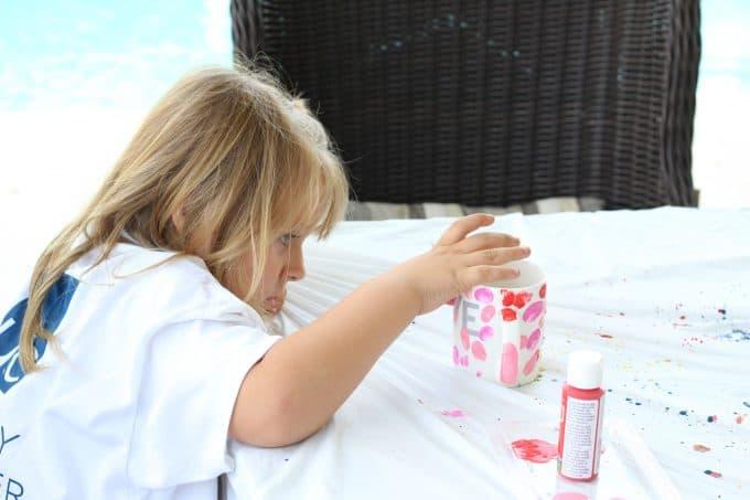 DIY mugs make a great craft for kids