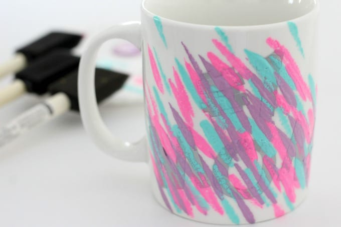 Painting coffee mugs is so easy that even the kids can do it