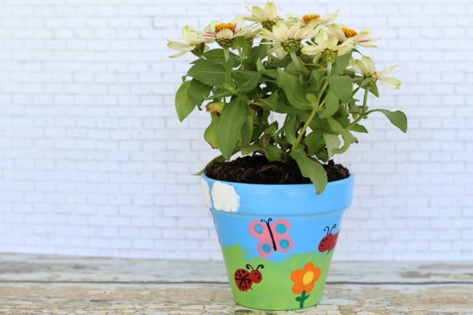 Painted flower pots make such great gifts.