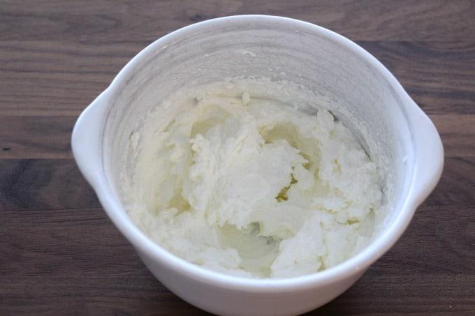 This Oreo cheesecake recipe starts with whipping cream until stiff