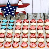 Red, White And Blue Cheesecake Cookies