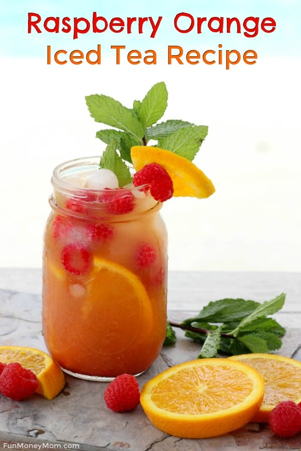 Raspberry Orange Iced Tea - Want an iced tea recipe that'll keep you cool all summer? This twist on raspberry iced tea, made with Milo's Tea, is perfect for hanging by the pool, getting together with friends or any other fun summer celebration! #MakeItWithMilos #Pmedia #ad #icedtearecipe #raspberrytea #summerdrinks #icedtea