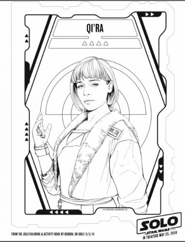 Qi'Ra Coloring Page