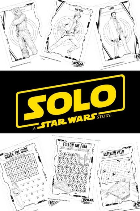 Star Wars Printables - Do your kids love Star Wars? They're going to love these Star Wars coloring pages and activity sheets from the new movie SOLO: A Star Wars Story! #starwars #starwarsprintables #coloringpages #starwarscoloringpages