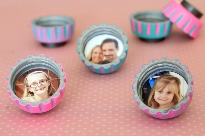 Easy Craft For Kids: Bottle Cap Magnets