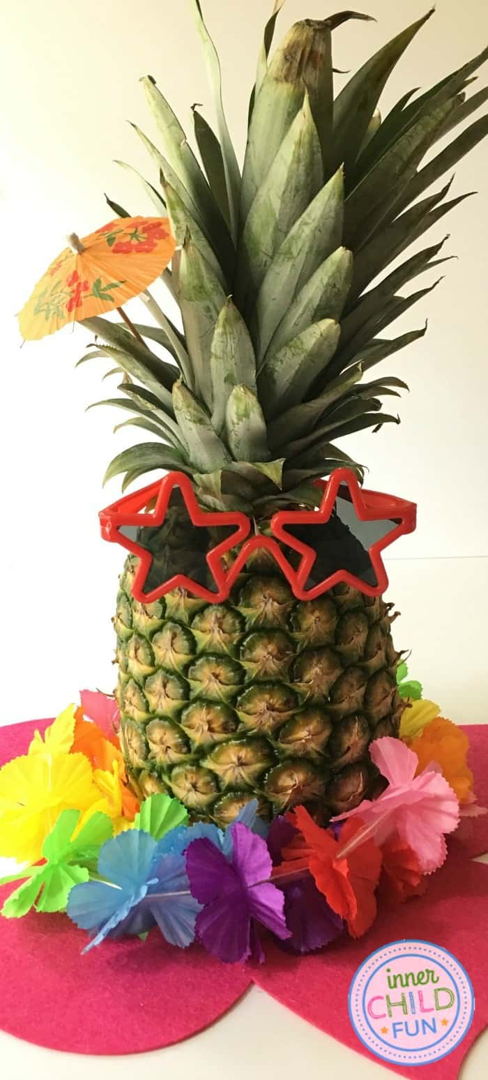 Pineapple decor for a Moana themed party
