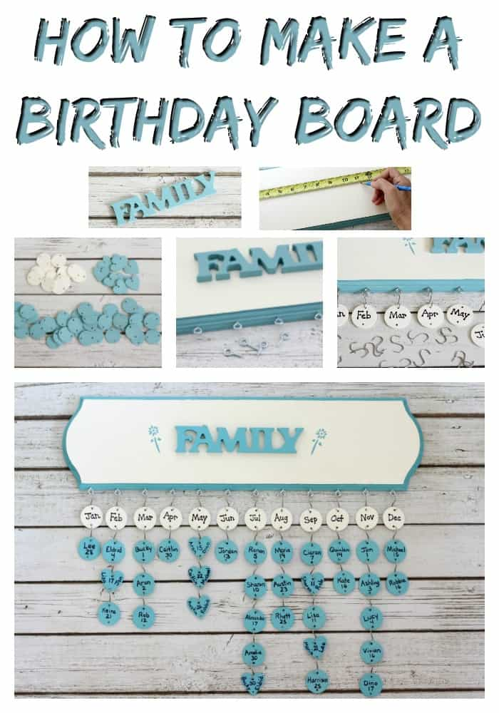 This Birthday Board makes the perfect DIY gift for someone you love!