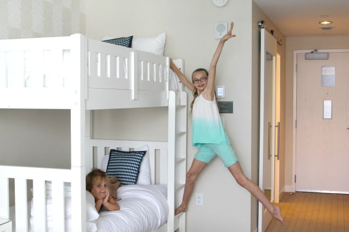 Kids love the bunk beds at the Wyndham Grand Clearwater Beach