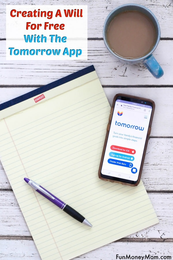 How To Create A Will - Making a will can be complicated and expensive but now there's a way you can write your last will and testament for free! With the tomorrow app, writing a will can be done from the comfort of your own home and it doesn't cost a thing. #ad #createawill #lastwillandtestament