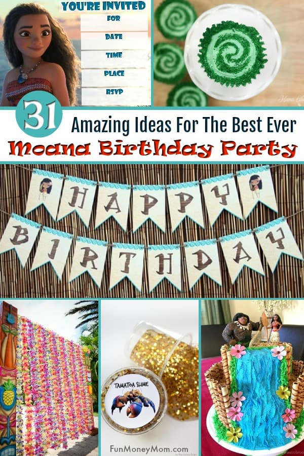 Moana Birthday Party - Planning a Moana themed birthday party? Check out these Moana invitations, food, decor and everything else you need to throw the perfect Moana party. #MoanaBirthdayParty #MoanaParty #MoanaThemedParty #BirthdayParty