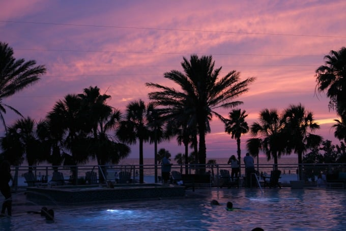 The view from the pool at the Wyndham Grand Clearwater Beach can't be beat