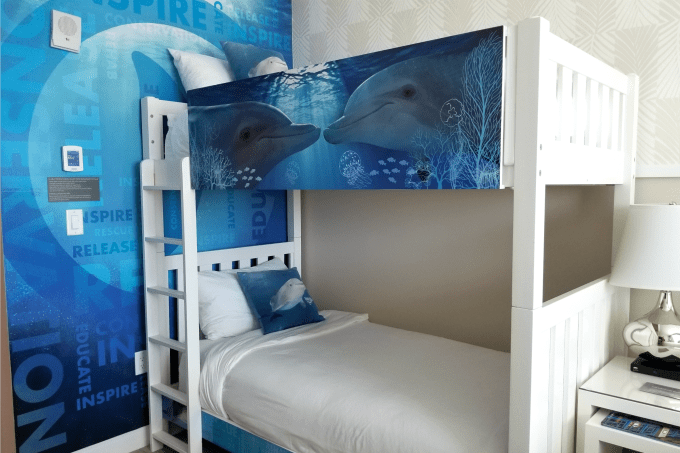 Dolphin Tales fans can book the Winter Room at the Wyndham Grand Clearwater Beach