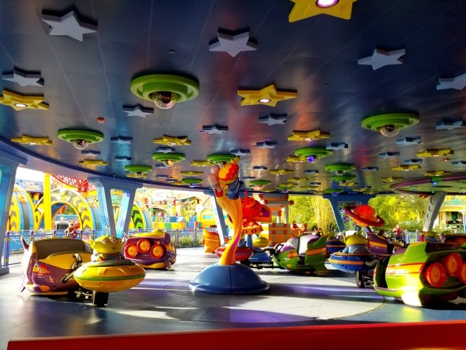 Alien Swirling Saucers were a popular attraction at the Toy Story Land opening