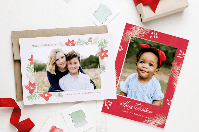 It's never too early to start thinking about photo Christmas cards