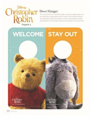 Winnie The Pooh Door Hanger and Game