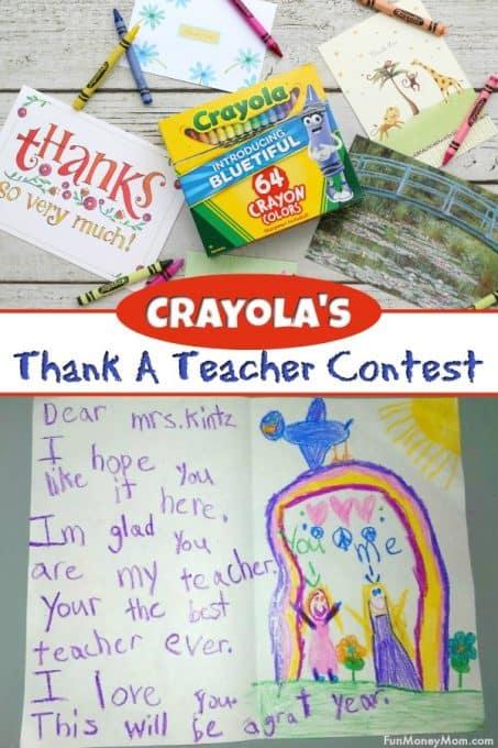 Crayola Thank A Teacher Contest Pinterest