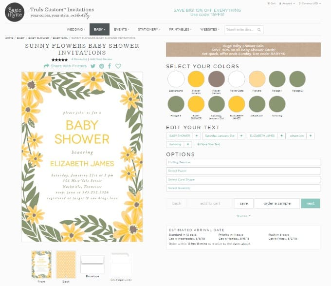 Designing custom baby shower invitations has never been so easy