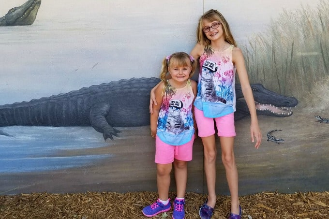 Wearing Justice Clothing at Gatorland