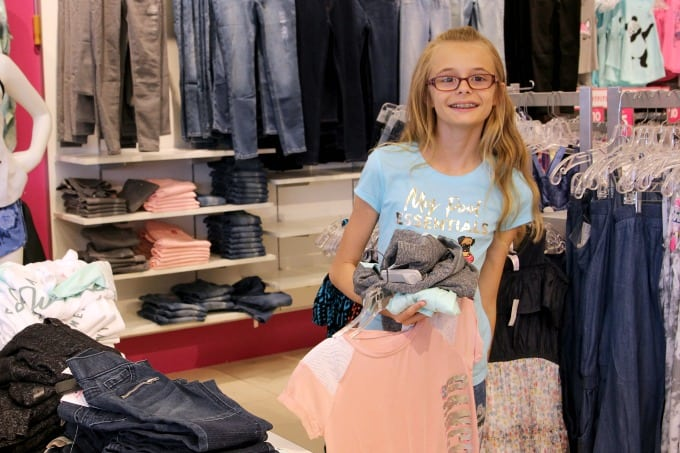 Back to school shopping for clothes lets Ashling express her creativity.