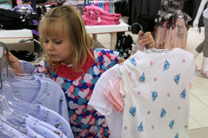 Even Keira loves shopping Justice clothes for girls