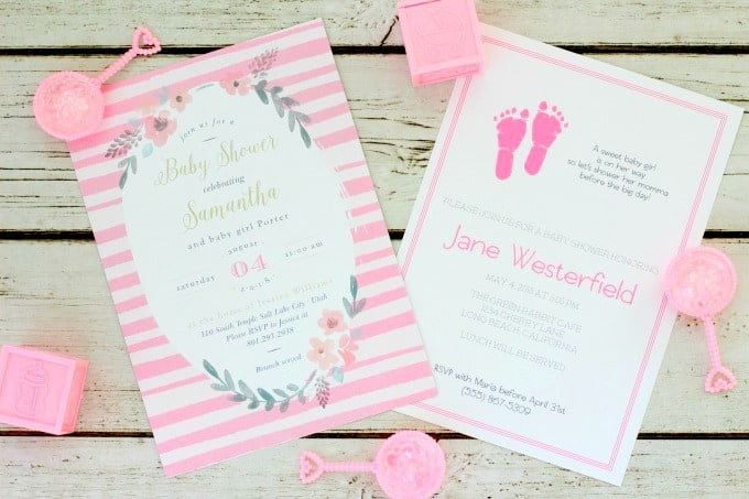 Custom baby shower invitations for girls are easy with Basic Invite