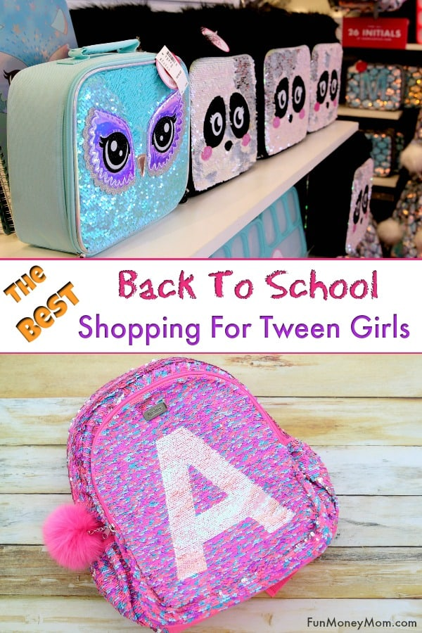 Back To School Shopping - Going back to school shopping for tween girls? Find out where to get some of the best back to school backpacks for girls, along with awesome girls clothing and accessories! #BackToSchoolClothes #BackToSchoolShopping #GirlsClothing