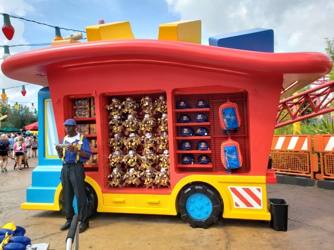 Toy Story Land Merchandise Carts
