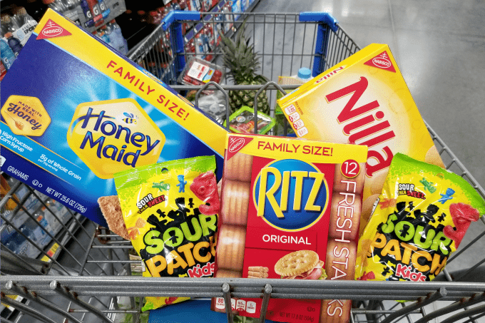 Walmart carries all the NABISCO snacks we could possibly need!