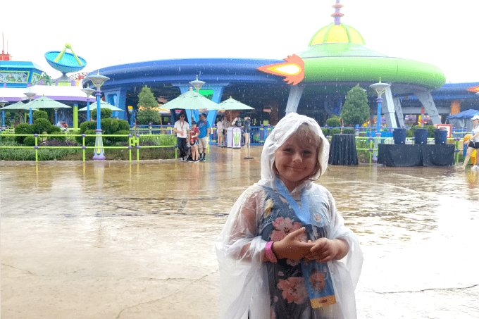Ponchos are a must-have if you visit Toy Story Land Disney World in the summer