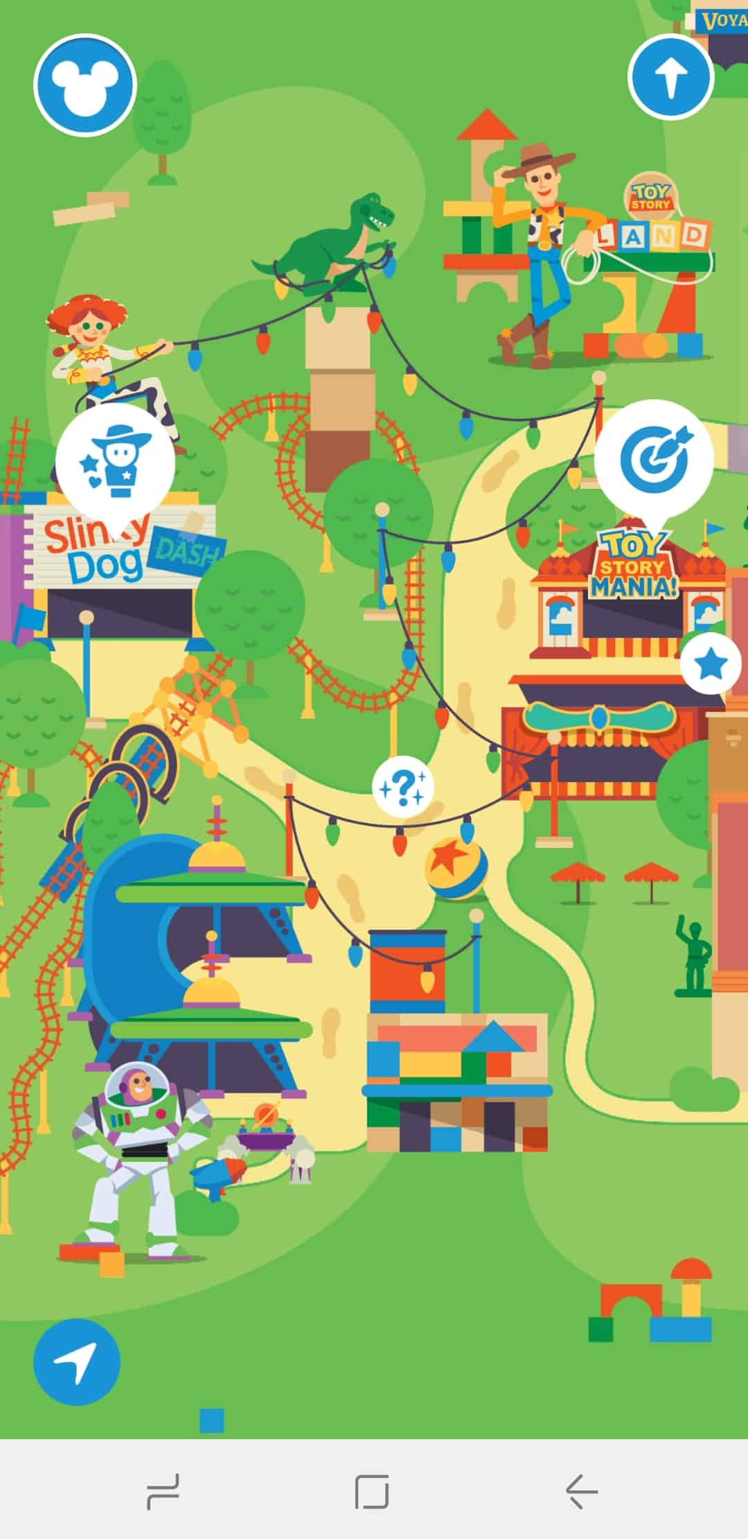 Use the Disney Parks App to play games as you wait in line