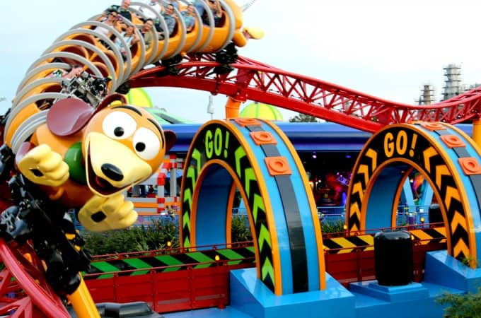 The Slinky Dog Dash at Toy Story Land